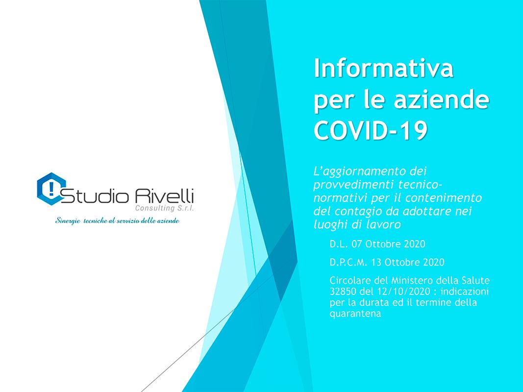 Informativa per le aziende COVID-19